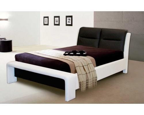 Кровать Ларио 200x140 белый / фиолетовый