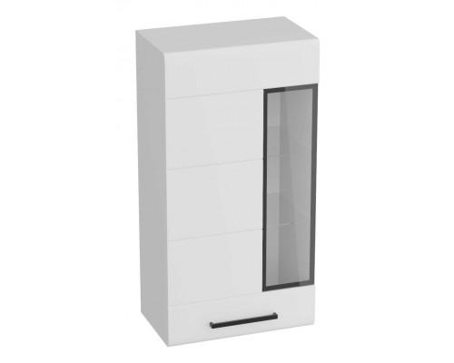 Шкаф-витрина Кёльн, белый аляска / белый глянец 595x335x1145