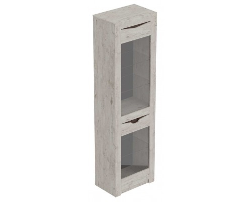 Шкаф витрина 1-дв. Соренто 600x385x2100, дуб бонифаций