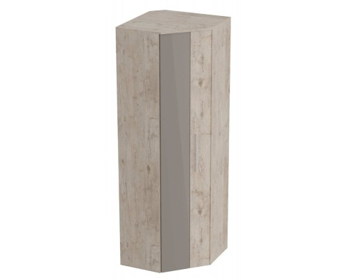 Шкаф угловой Фан 700x700x2100 дуб бонифаций / мокко глянец