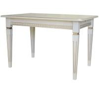 Стол обеденный Васко В 86Н раздвижной 1200/1700x800x765 слоновая кость/золото