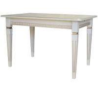 Стол обеденный Васко В 87Н раздвижной 1500/2000x900x765 слоновая кость/золото