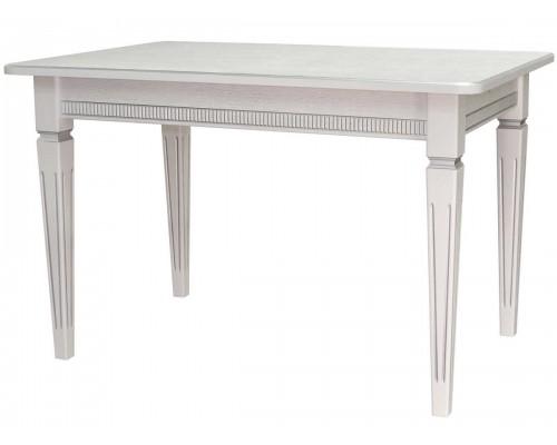 Стол обеденный Васко В 89Н 1200x800x765 белый/серебро